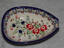 Genuine UNIKAT Polish Pottery Kitchen Spoon Rest! Zoey Pattern!