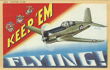 WWII MILITARY Post Card - VULTEE P-66 Plane #955 signed by JusmeT - EXCELLENT