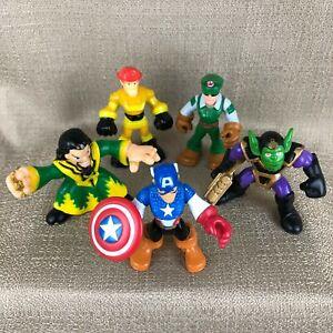 Playskool Marvel Super Heroes Captain America, Green Goblin, Wizard Set of 5
