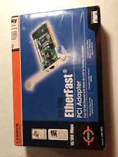 Linksys 10/100 EtherFast PCI Adapter Ethernet Card Desktop Computer Internet New