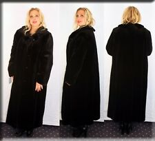 New Black Sheared Mink Fur Coat Size 2XL 16 18 2 Extra Large