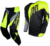 NEW 2018 SHOT ALERT MOTOCROSS MX ENDURO PANT & JERSEY COMBO KIT NEON YELLOW GREY