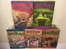 Harry Potter Book Audio On Tape Cassette Lot Chamber Secrets Goblet  Sorcerer's