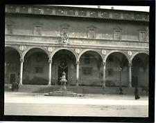 Italie, Florence, hôpital des Innocents Vintage silver print,  Tirage argentiq