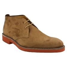 MENS LOAKE SHOES LACE UP BROWN SUEDE CASUAL EVERYDAY DESERT ANKLE BOOTS LENNOX