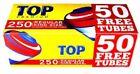 250 TOP REGULAR FULL FLAVOR KING SIZE CIGARETTE FILTER TUBES ROLL YOUR OWN