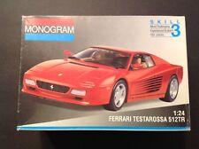 Monogram Ferrari Testerosa 512Tr Model Car Kit 1:24 Scale Kit#2435