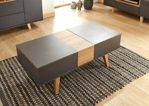 Grey Coffee Table With Double Lift Function Living Room Storage Solution Seconds