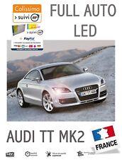 AUDI TT MK2  KIT 10 LED Veilleuses + Plaques + Habitacle Pur Blanc OBD Canbus
