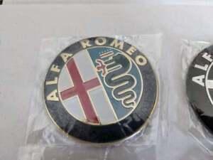 Alfa Romeo Emblem - 74 mm  Badge, fits 147, 156, 159, 166 - Gold (pair)