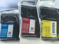 New Genuine Brother LC65HY Cyan Magenta Yellow Ink Cartridges, MFC-5890 CN
