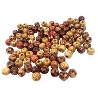 100 pezzi 10mm misti perline di legno rotondi per gioielli collana