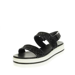 RRP €140 MICHAEL MICHAEL KORS Leather Slingback Sandals EU 39 UK 7 US 9 Glitter