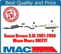 100% New Exhaust System fits for 01-04 Subaru Outback 3.0L Wagon Models ONLY!!!