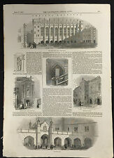 Page from The Illustrated London News April 18th 1846, Christ's Hospital - A3BK6