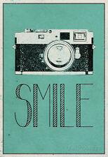 Smile Retro Camera Collections Poster Print, 13x19