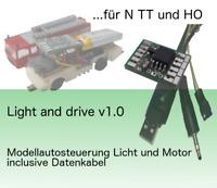 LIGHT and DRIVE für Faller Car System. Platine für den Selbstumbau + Datenkabel