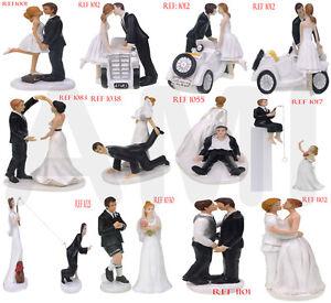 Clearance Sale Romantic Funny Wedding Cake Topper Bride & Groom Couple Uk Seller