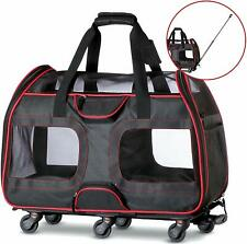 Removable Wheeled Pet Carrier for Small Pets USED FOR TESTING 50% OFF 22x12x15
