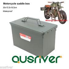 Car Mounted Tool box Motorcycle 1.0mm Steel Saddle Box Side Luggage Waterproof