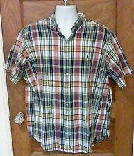EUC Polo Ralph Lauren Classic Fit Multicolor Madras Plaid Shirt All Cotton XL FS