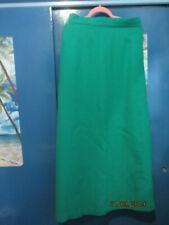 retro vintage lush green maxi skirt with waistcoat 30 inch waist wool crepe mix