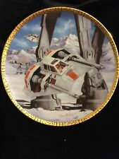 """Star Wars """" Snowspeeders"""" Space Vehicles Collector'S Plate"""