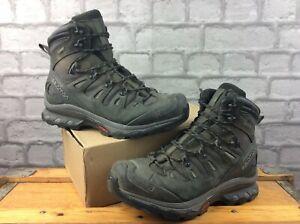 SALOMON MENS UK 8 EU 42 QUEST 4D 3 GTX GRAPHITE WALKING BOOTS RRP £180 EP