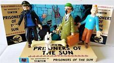 TINTIN Comic Action Figure Set on Custom Design PRISONERS OF THE SUN Display