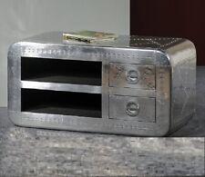 Aviator TV Cabinet Industrial TV Cabinet Aluminum Metal Plasma stand Vintage
