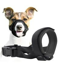 Gentle Muzzle Guard for Dogs Prevents Biting Unwanted Chewing Safely Medium Grey