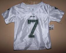 Girl's Toddler 2T 6315 White Glitter #7 GENO SMITH Football Jersey Shirt NY JETS