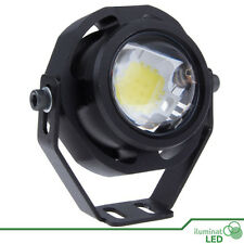 Foco IP65 LED Blanco Frío Resistente Agua 12V AC/DC Carcasa Negra - 10W