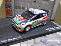 FORD Fiesta WRC Rallye RS Schweden 2011 #3 Hirvonen Abu Dhabi IXO Altaya 1:43
