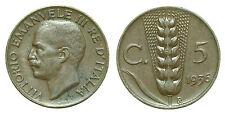 pci0152) Vittorio Emanuele III regno cent 5 SPIGA del 1936