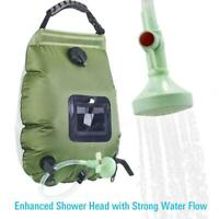 Portable 20L Solar Heated Water Pipe Camp Solar Shower Bag Outdoor Camping