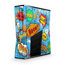 Xbox 360 Slim Skin Aufkleber Schutzfolie Sticker Skins Folie Design Comics blau