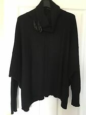 All Saints Ellil wool cashmere mix Leather Buckle cowl jumper Uk 8 also fit 10