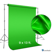 LimoStudio 9 foot x 13 Green Fabricated Chromakey Backdrop Background Screen for