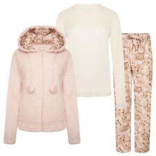 Ladies Ex-Stores 3 Piece Supersoft Fleece Pyjama Set Nightwear, PJ's