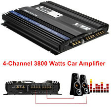 High Power 3800 Watts RMS 4 Channel Car Auto Audio Stereo Amplifier Amp 4Ohm 12V