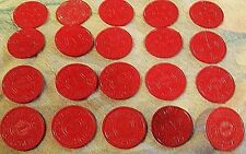 TAX TOKENS RED PLASTIC MISSOURI SALES TAX TOKEN 1 GOOD CONDITION CIRCULATED