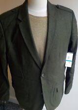 "Calvin Klein ""The Militant"" Wool Blend Blazer Army Green XL NWT"