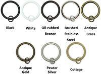 "Urbanest Metal Curtain Drapery Rings with Eyelets,1 1/2"" Inner Diameter set of 7"