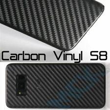 BLACK Samsung Galaxy S8 Textured Carbon Fibre Skin Sticker Cover Vinyl SM-G950