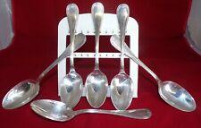 CHRISTOFLE - Set of 6 CHRISTOFLE MALMAISON Silver Plate Diner Spoons France