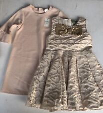2 Baby Toddler Girl Nice Sparkly Holiday Season Dresses Size 4 T