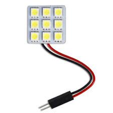 Luci pannello 9 LED smd per interni auto tettuccio luce fredda 6000K 2W 12V T10