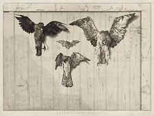 FELIX BRACQUEMOND FRENCH BIRDS NAILED BARN DOOR OLD ART PAINTING POSTER BB5395A