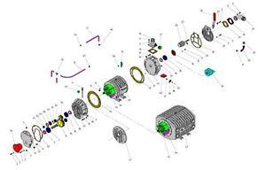Dichtsatz Lamellenwechsel für Hertell KD 6500 - 14000 Vakuumpumpe, Güllepumpe